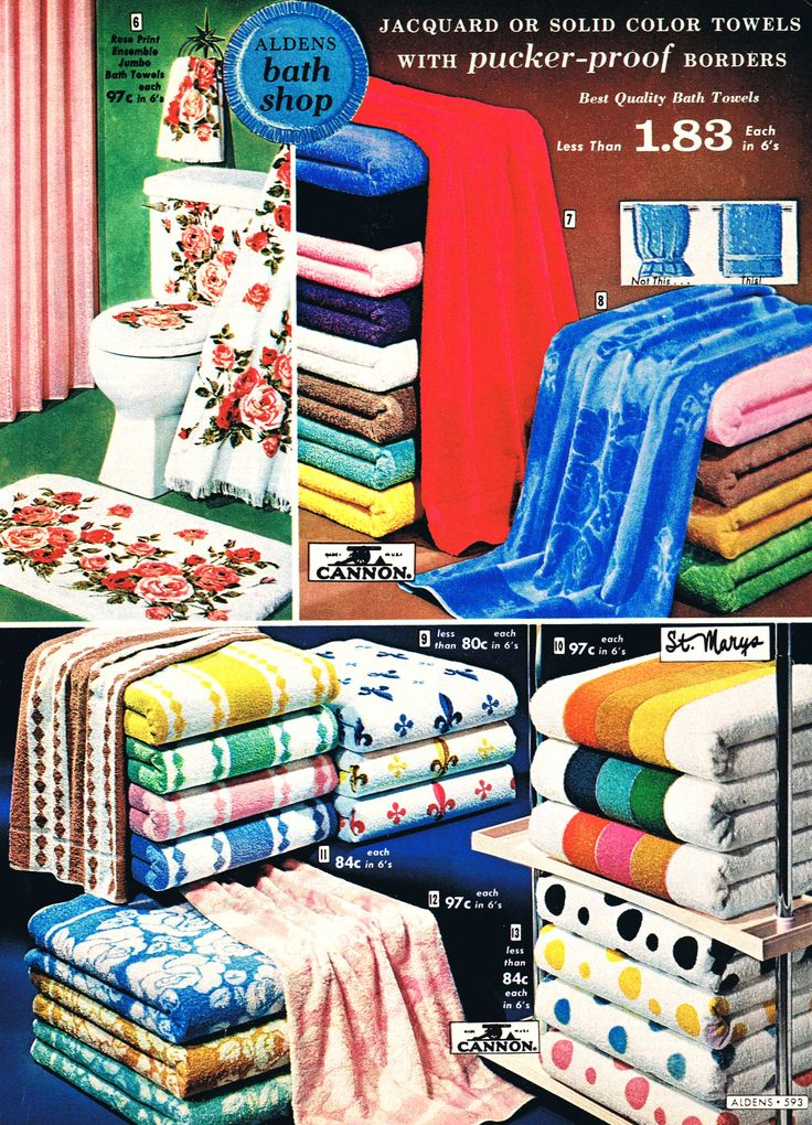 Gorgeous Cannon towels 1965 ... they felt so luxurious!