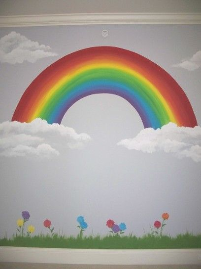 Images of tree and rainbow murals google search murals for Rainbow kids room