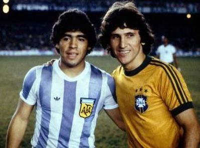 Maradona, Seleção Argentina e Zico, Seleção Brasileira