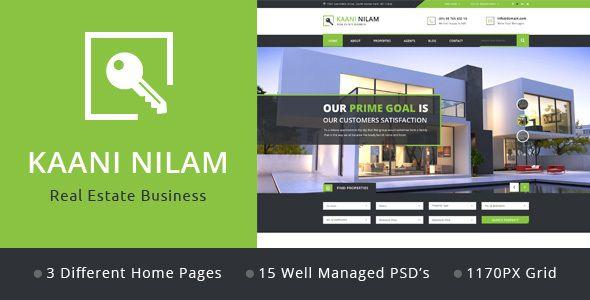 Kaani Nilam - Real Estate PSD Template