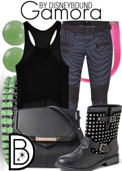 Disney Bound - Gamora (Guardians of the Galaxy)