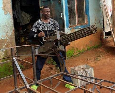 Golola Moses Embarks To On acting career as the Ugandan RAMBO with Wakaliwood.