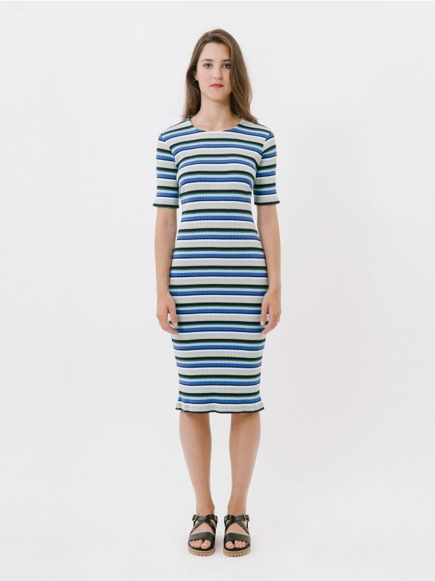 Biarritz Navy Dress //
