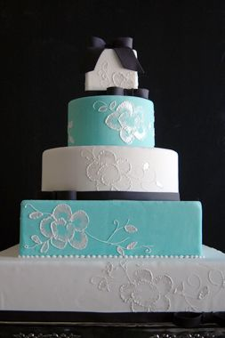 Tiffany Blue Brush Embroidered
