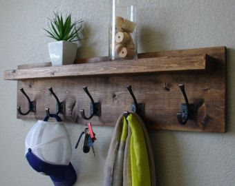 Rustic Modern Coat Rack by TimelessWoodDesign on Etsy