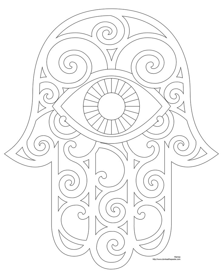 Hamsa Coloring Page And Embroidery Patterns Motifs De Broderie