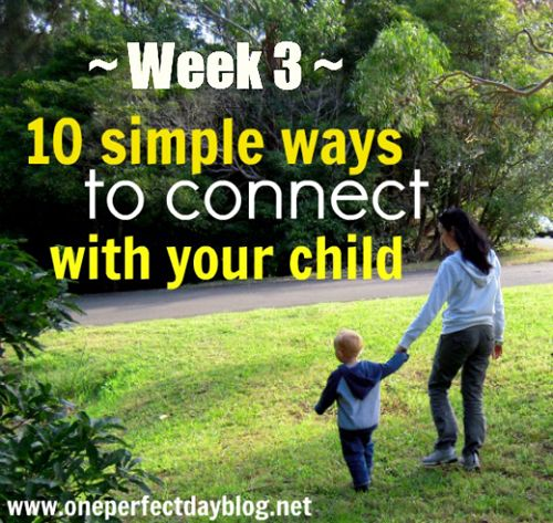 Week 3 in a series of 10 simple things you can do today to connect with your child. One simple idea is shared each week. Each weekly post takes less than 5 minutes to read and the ideas shared are simple enough to achieve on even the busiest of days. Week 3 is all about being available. Saying yes. http://www.oneperfectdayblog.net/2012/07/05/10-simple-ways-to-connect-with-your-child-week-3/Child, Simple Ideas, Cute Ideas, Ideas Shared, Simple Things, Ten Weeks, 10 Simple, Families Time, Weeks Post