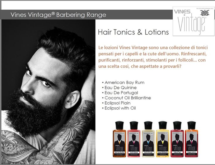 """Vere lozioni """"old style"""" per veri uomini! Non le solite fiale, ma tonici adatti ai capelli e alla cute dei veri gentlemen. Parola di Vines Vintage :-)"""
