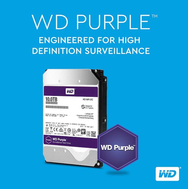 Western Digital lanzó para los usuarios de televigilancia su nuevo disco WD Purple, terminal de alta disponibilidad de 10 TB.