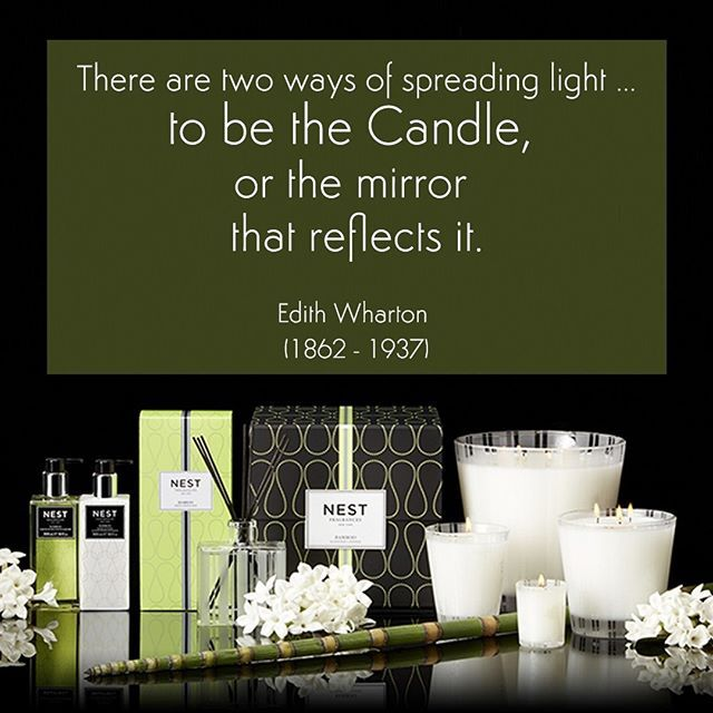 #quoteoftheday #igquotes #quotesthatspeak  There are two ways of spreading light ... To be the Candle, or the Mirror that reflects it. Edith Wharton (1862 - 1937)--------------------- #NestCandles available at #reedsandscents #fragrancelounge #lekki #lagos #lagosnigeria #Bamboo #fragrance #waxlover #candles #scentedcandles #waxaddiction #aromatherapy  #scent #scented #scented #scentedcandle #candle #wax #waxmelts #waxobsessed #fragranceobsessed #homefragrance #meltoftheday