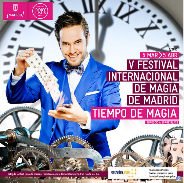 V Festival Internacional de Magia. From 5 March until 5 April at Teatro Circo Price. +Info http://www.bookstyle.net/en/madrid-style/cultural-unmissables/teatro-circo-price/27/0/63378