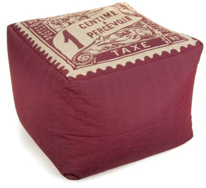 In an old French stamp design, this Delaney taperstry bean cube is just stunning #ParisSouvenirs #Style