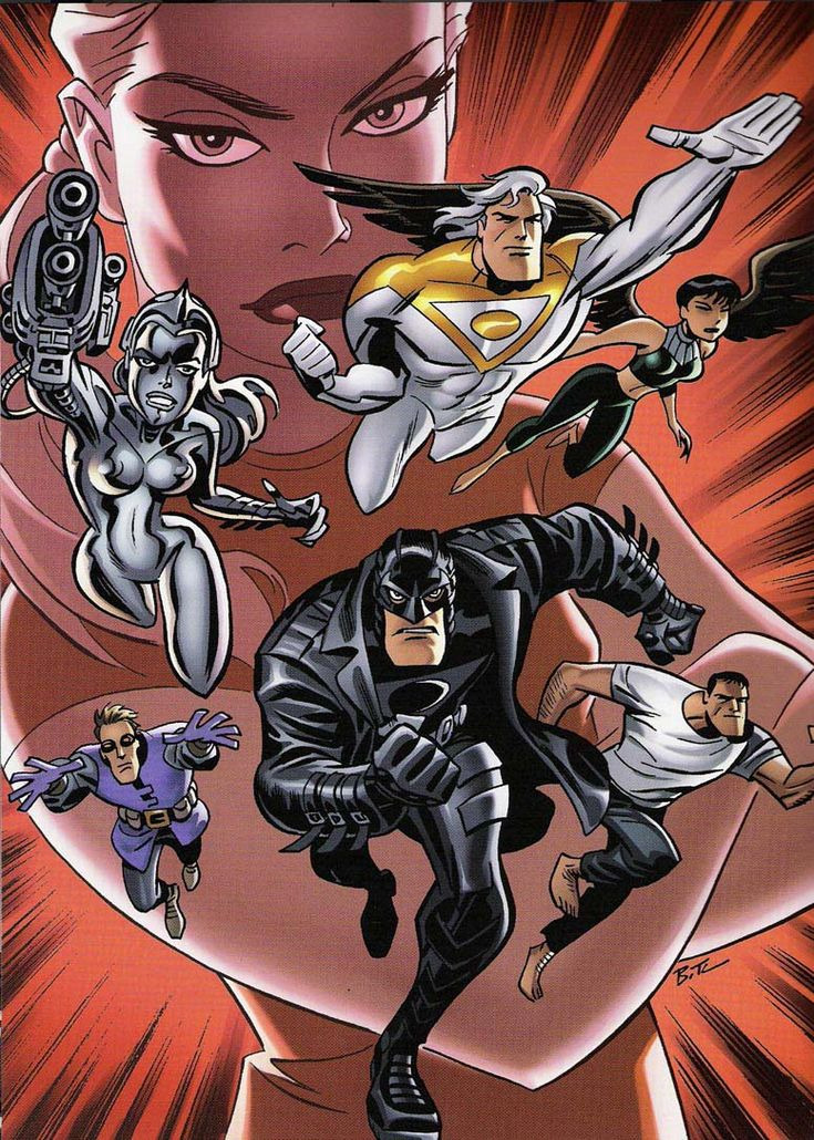 The Authority by Bruce Timm - see the black and white version of this stunner elsewhere in this folder!