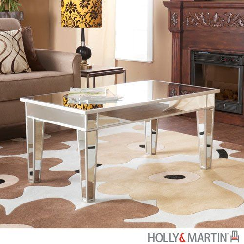 Montrose Mirrored Cocktail Table White H x W x