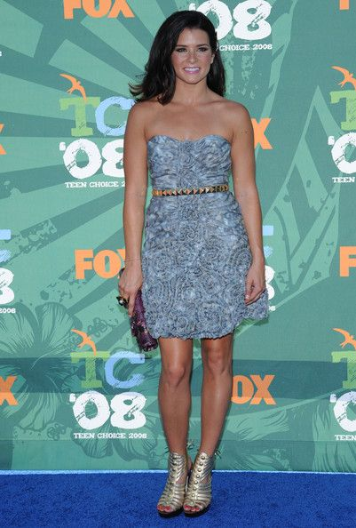 Danica Patrick Strapless Dress - Danica Patrick wore a stylish strapless dress with a studded belt to the Teen Choice Awards.