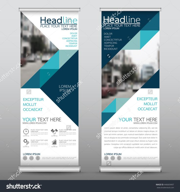 Blue Roll Up Business Brochure Flyer Banner Design Vertical Template Vector…