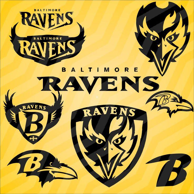 9Baltimore Ravens vector art pngdxfsvgeps in 1 zip