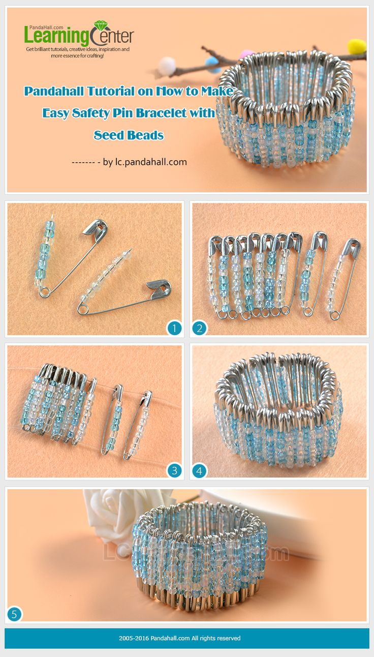17 best ideas about safety pin bracelet on pinterest for Safety pins for crafts
