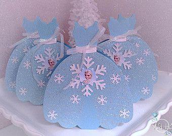 Disney's Frozen Inspired Party Dress Favor Box - Set of 5