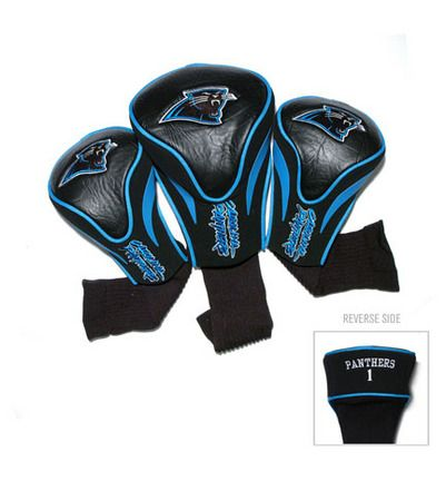 Carolina Panthers Contour Fit Golf Headcover (3-Pack): These sleek headcovers are made from buffalo… #Sport #Football #Rugby #IceHockey