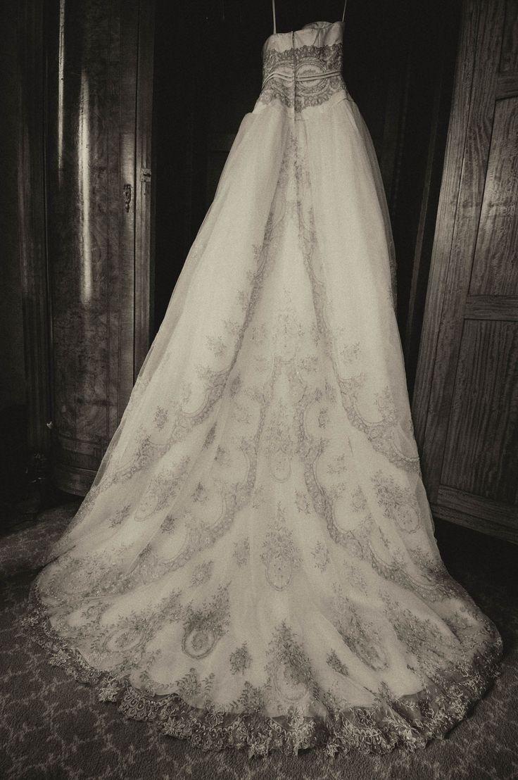 The Brides Wedding Dress Hanging In Killashee House