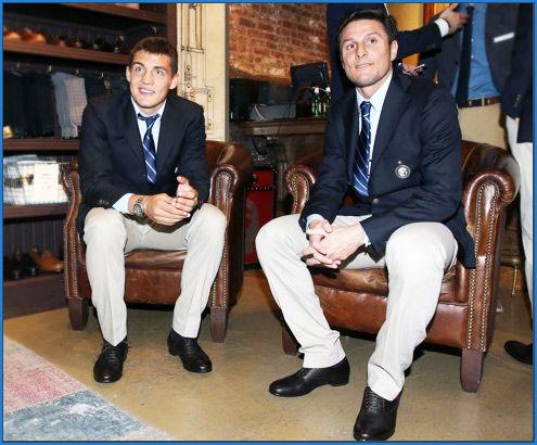 Javier Zanetti e Mateo Kovacic Sergio Rossi annuncia la Partnership con l'Internazionale F.C. per la stagione 2013/14