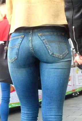 Remarkable, Tight asses in jeans