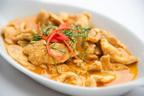 Coconut and tamarind chicken curry