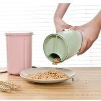 Eco-friendly Plastic Food Storage Container Wheat Straw Storage Organizer