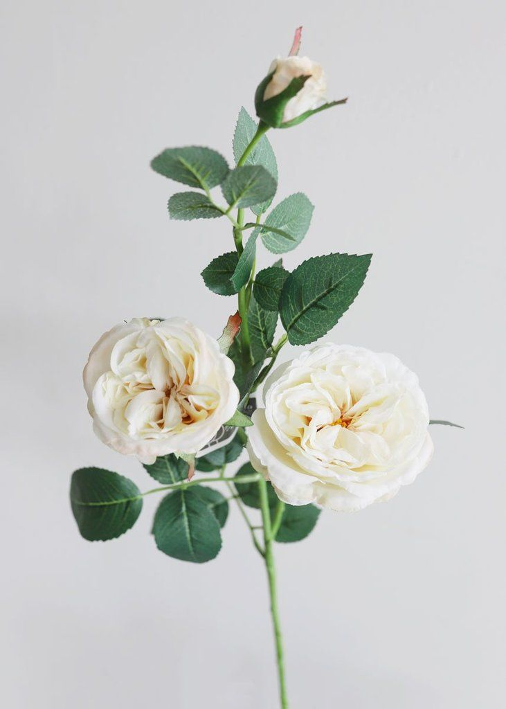 Cream Garden Cabbage Head Rose Faux Flower Spray 29 Tall In 2020 Artificial Flowers Flower Spray Artificial Flowers Wedding