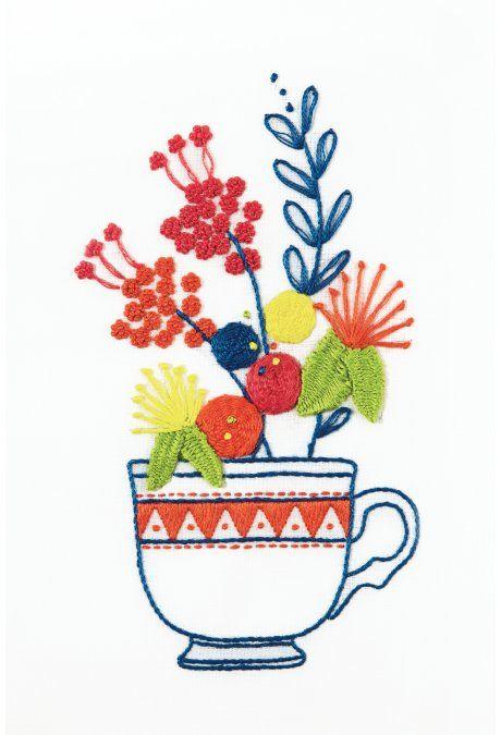 Srta. Lylo Chávena de chá e Flores - desenho