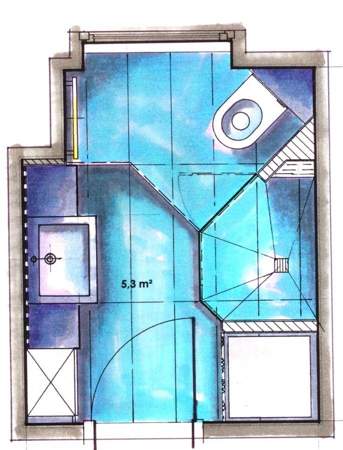 Kleines Badezimmer Mit Waschmaschine Kleines Bad Gestalten Kleine Bader Bad Grundriss