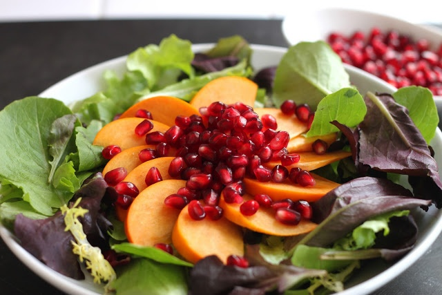 ... : Pomegranate Persimmon Salad, and How to Remove Pomegranate Seeds