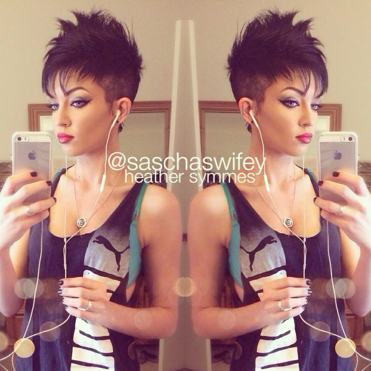 Women's faux hawk: heather symmes for some reason i find this hair cut cute!!