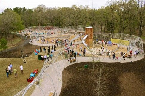 Woodland Discovery Playground at Shelby Farms Park in Memphis, US