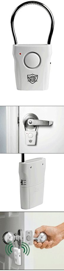 Affordable Home Security Door Knob Alarm For Only $12.95! This is the simplest most