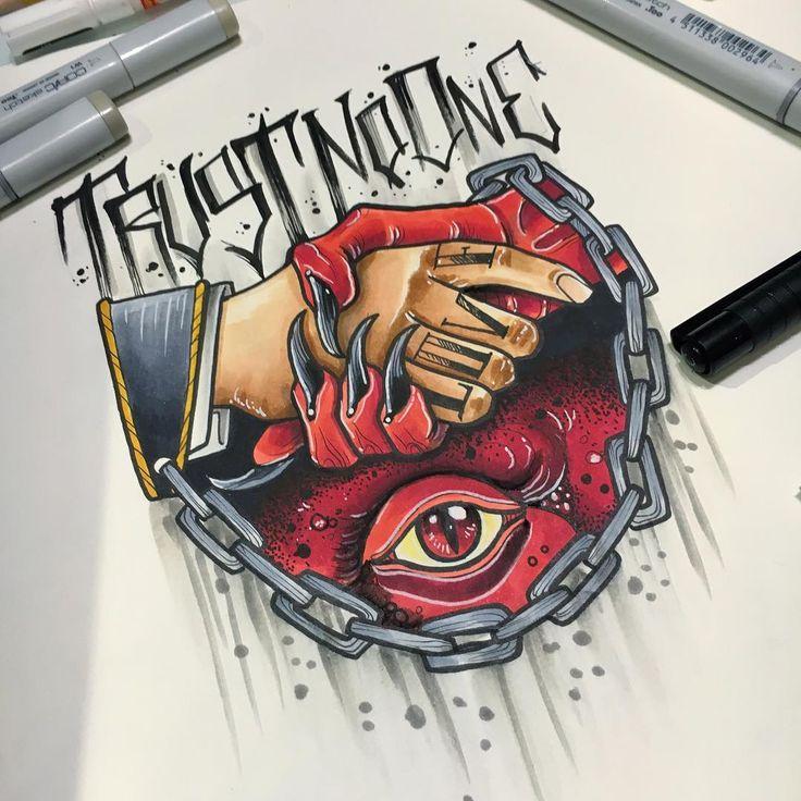 """582 Likes, 7 Comments - eltanque-tattooer (@el_tanque_tattooer) on Instagram: """"mi hanno sempre detto .... non te fida de nessuno"""""""