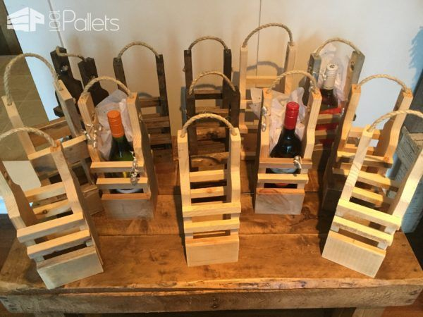 Rustic Pallet Wood Reusable Wine Gift Bags Pallet Home Accessories