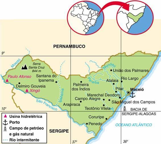 Alagoas Em 2020 Com Imagens Mapa Brasil Geografia