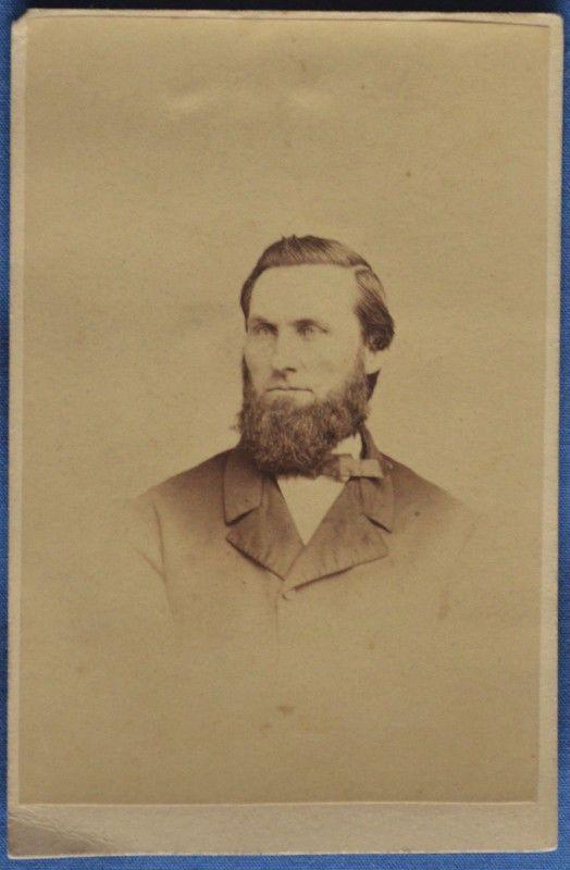 CDV Photo Man Chin Beard Gutekunst Philadelphia PA 1860s Was Tax Stamped