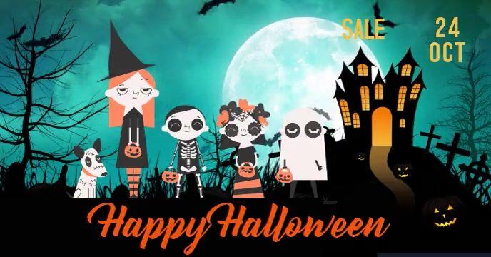 Facebook Cover Halloween Video Flyer Animated Halloween Facebook Cover Halloween Party Kids Halloween Social