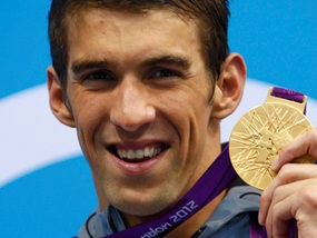 Micheal Phelps at the 2012 Summer Olympics.