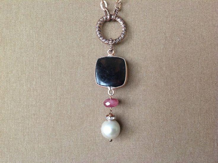 Collana in argento con ciondolo di pietre dure, by GIOBijoux, 33,00€ su misshobby.com