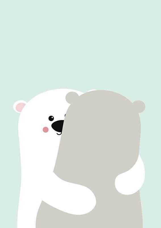 Poster Big bear hug A3. Beren poster met mintgroene achtergrond in A3 formaat. Heel leuk om in de babykamer en kinderkamer mee te decoreren. Ook leuk om kado te doen! Met deze leuke poster creëer je een nieuwe look met weinig tijd en geld. Ook verkrijgbaar bijpassende ansichtkaart.