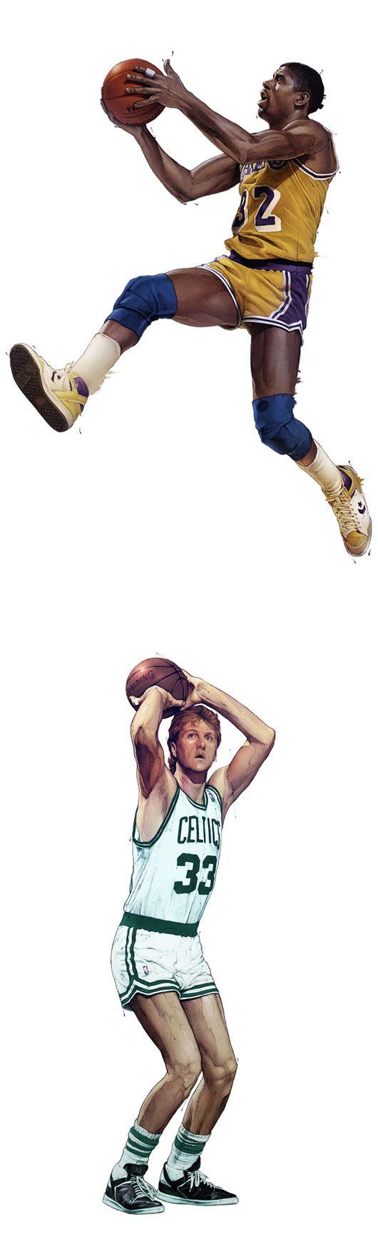 NBA Illustrations by Grzegorz Domaradzki | Inspiration Grid | Design Inspiration