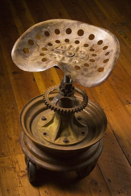 Homemade Tractor Seat Bar Stools : Images about made from old tractor parts on