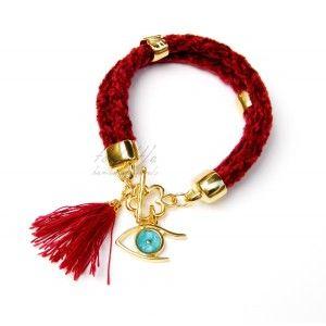 Red Eye Magic Charm Rope Bracelet #rope bracelet