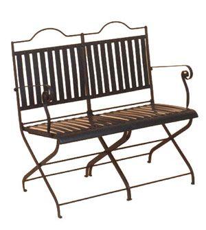 49 best images about mesas y sillas de exterior de hierro estilo parisino on pinterest mesas - Bancos de forja para exterior ...