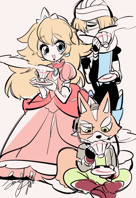 Peach, Sheik et Fox                                                                                                                                                                                 More