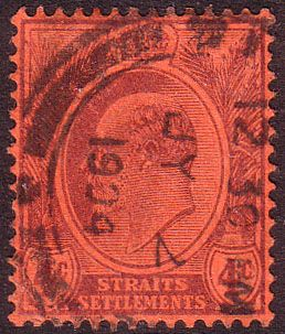 Straits Settlements 1903 King Edward VII SG 129 Fine Fine Used Scott 111 Other Malay Straits Stamps HERE